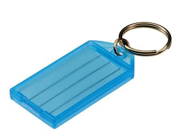 BLUE Key Tag, w/Split Ring, Bulk #605 (sold each)
