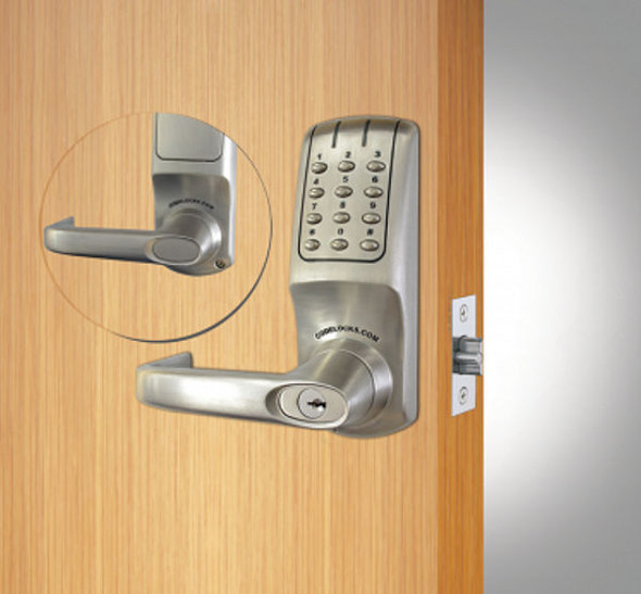 Codelocks CL5210-IC-BS (SFIC), Pushbutton Lever Entry