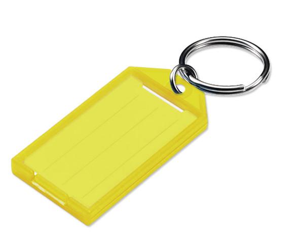 YELLOW Key Tag, w/Split Ring, Bulk #605 (sold each)