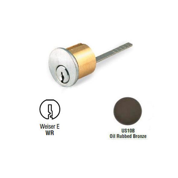 Rim Cylinder, GMS R118-WR 10B, Weiser WR5, Keyed Different