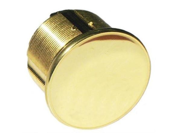 """Dummy Mortise Cylinder, GMS M118D US3 1-1/8"""" Polished Brass"""