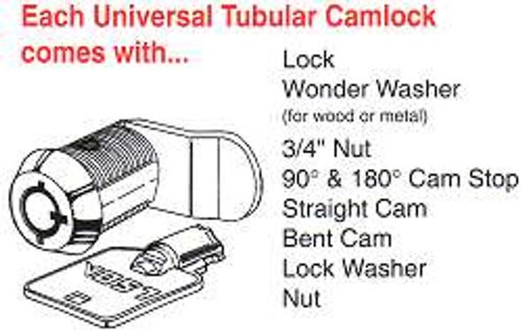 LSDA UTCL58 KA 56804, 5/8 Tubular Cam Lock Keyed Alike 56804