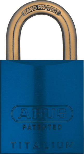 """Abus 83AL/45 Blue Padlock with 1"""" Brass Shackle, Schlage C Keyway, Zero Bitted"""