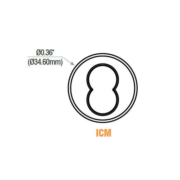 GMS ICM7-10B Mortise Cylinder, SFIC Housing ICM7 10B