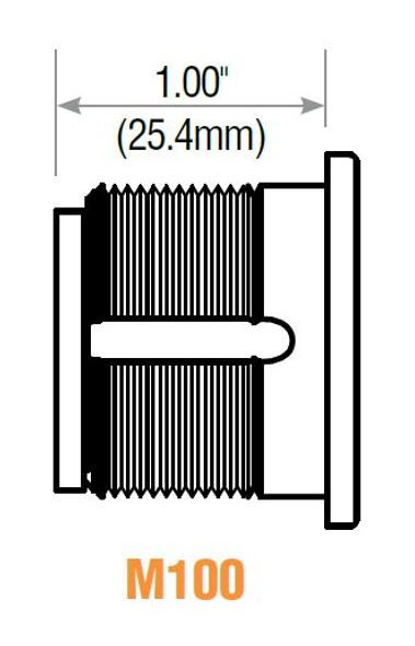 "Thumb Turn Mortise Cylinder, GMS M100T US26, 1"" Polished Chrome"
