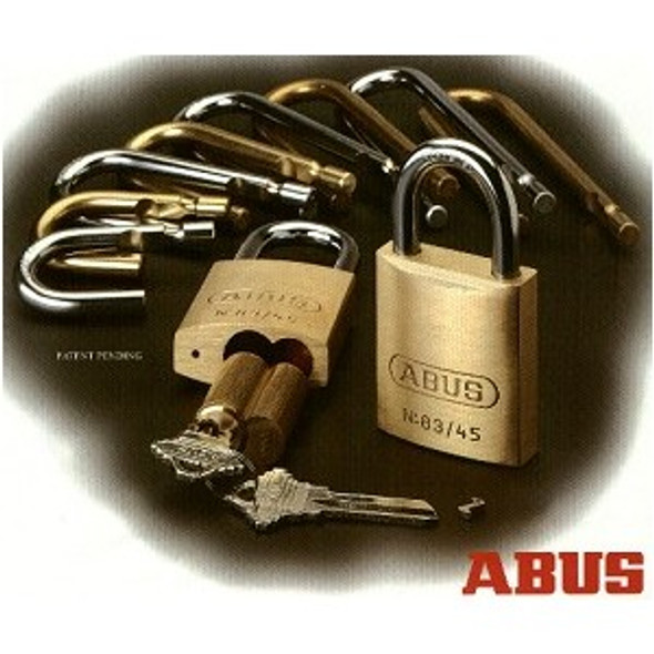 "Abus 83/45-300 Brass Body Padlock 4"" Shackle, Schlage C Keyway, Zero-Bitted"
