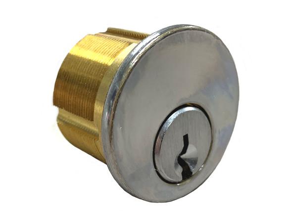 GMS M118-SCE US26 Mortise Cylinder 1-1/8, Schalge E, Keyed Alike (2-Pack)
