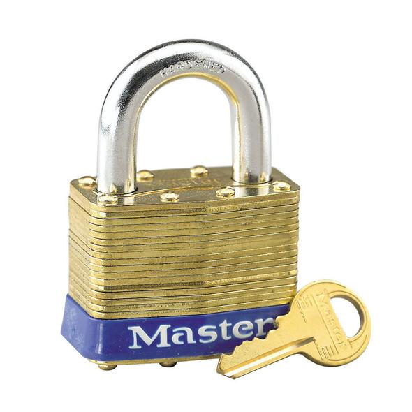 Master Lock #6 Laminated Brass Padlock, Keyed Different