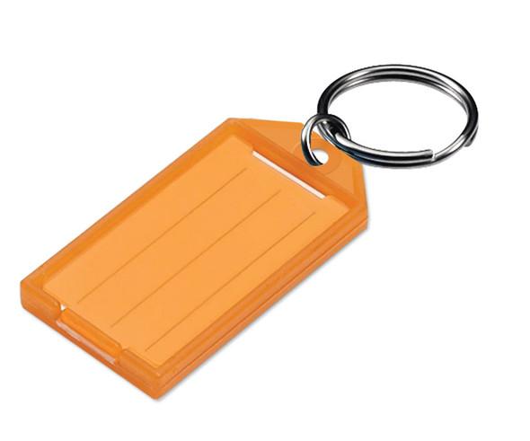 ORANGE Key Tag, w/Split Ring, Bulk #605 (sold each)