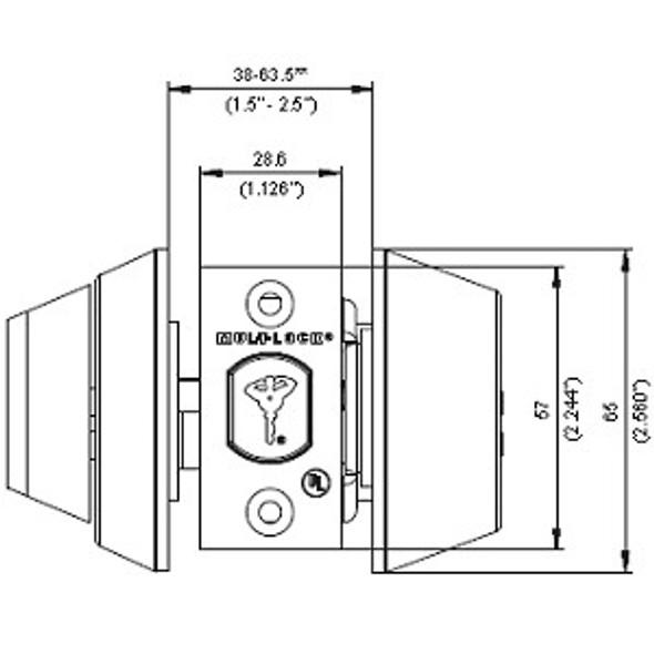 Deadbolt, Mul-T-Lock Hercular S/C 206SP-HD1-22 Black