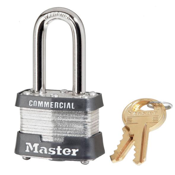Master Lock 3LF Padlock, Factory Keyed