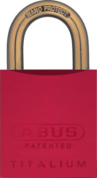 Abus 83AL/45 Red Padlock with Brass Shackle, Custom Keyed
