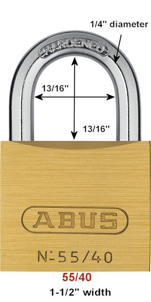 ABUS 55/40 KA 5401 Brass Body Padlock, Keyed Alike 5401