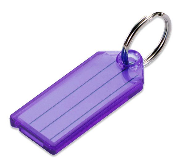 PURPLE Color Key Tag with Split Ring (each tag)