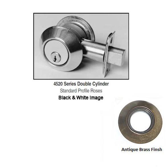 Ilco Lori 4522-SC-05 Deadbolt, D/C 2in Backset SCH Cylinder