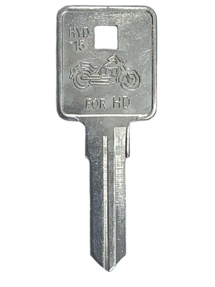 Jet HYD15-NP Key Blank For Harley Davidson