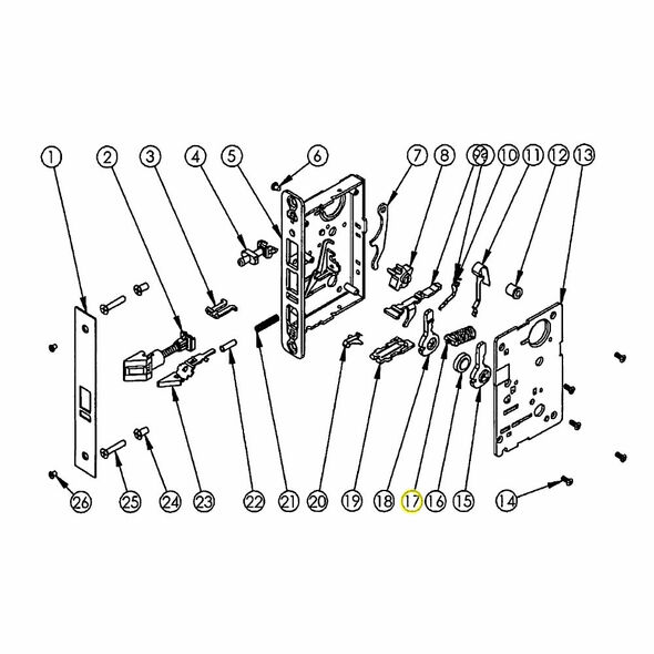 Sargent Spring Cartridge Assembly 82-2004