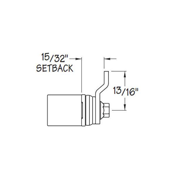 Cam Lock Cylinder Body, Timberline CB-085
