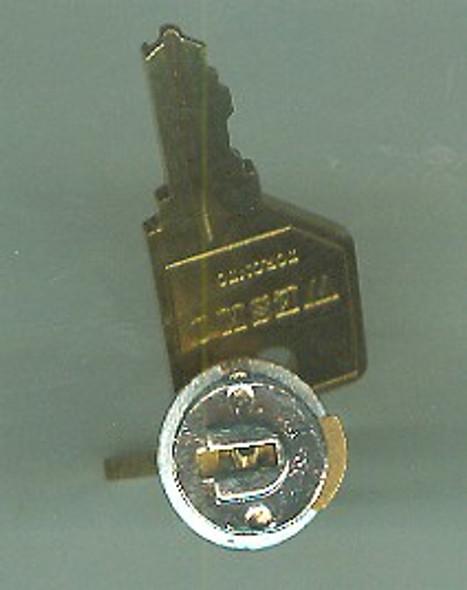 Key Plug KA 101, Nickel Finish Pundra 101-330 Series