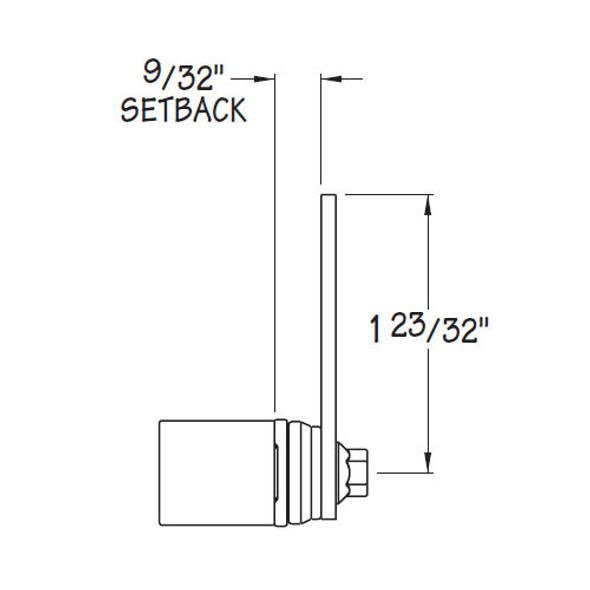 Cam Lock Cylinder Body, Timberline CB-087