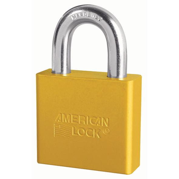 American Lock A1305 Yellow Padlock, Custom Keyed