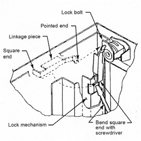 Kit, File Cabinet HON F24/F28 Keyed Alike 102E