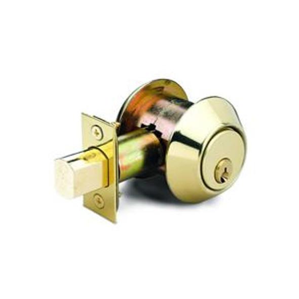 Deadbolt, S/C US3 with 2in Backset Kwikset Cylinder, 4512-03P-KS