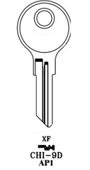 JMA CHI-9DE Key Blank for Chicago AP1/101AM