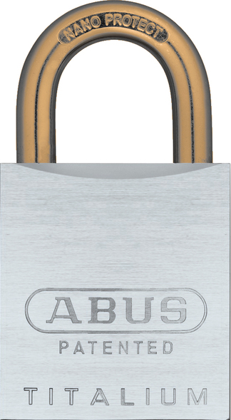 Abus 83AL/45 Brushed Aluminum Padlock with Brass Shackle, Zero Bitted