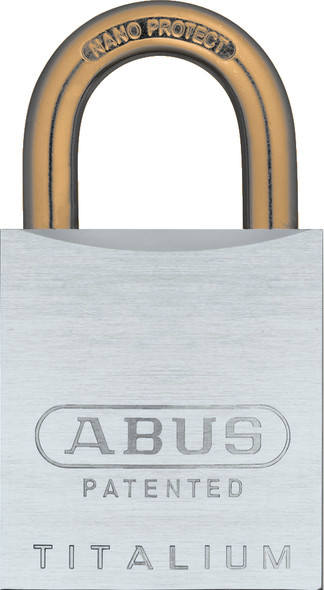 Abus 83AL/45 Brushed Aluminum Padlock with Brass Shackle, Custom Keyed