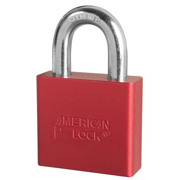 American Lock A1305 Red Padlock, Factory Keyed