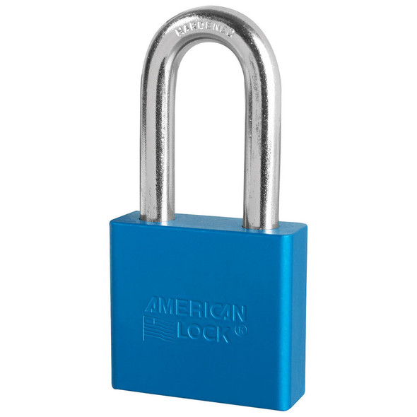 American Lock A1306 Blue Padlock, Factory Keyed
