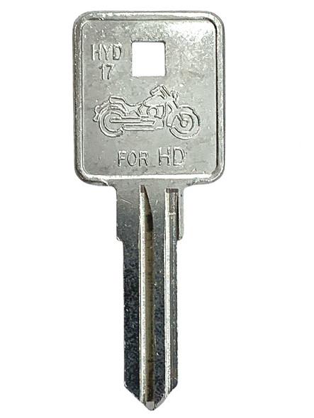 Jet HYD17-NP Key Blank, For Harley Davidson