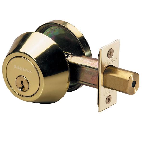 Master Lock DSO0603 Deadbolt, S/C Bright Brass KW1, Keyed Alike (3-Pack)