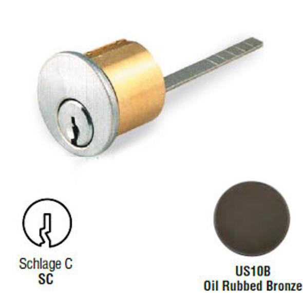 GMS R118-SC 10B Rim Cylinder, Schlage C SC1/SC4, Custom Keyed