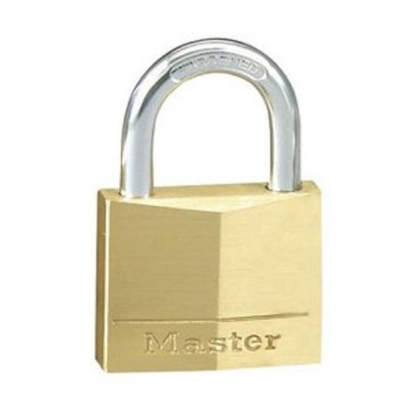 Master Lock 130D KA 1B005 Padlock,  Brass Body Keyed Alike 1B005
