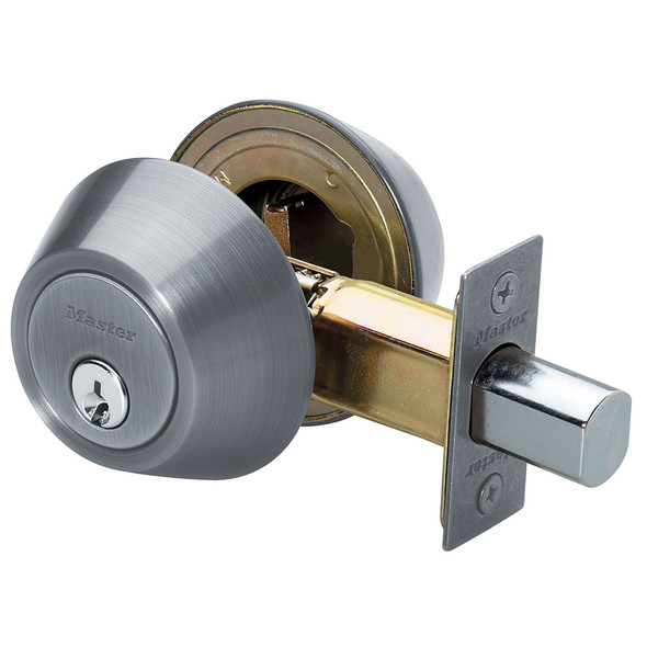 Master Lock DSO0715 Deadbolt, D/C Satin Nickel, Keyed Alike (2-Pack)