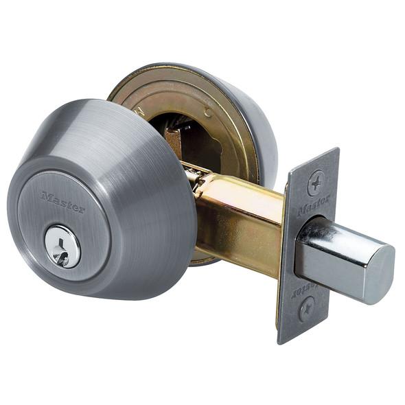 Master Lock DSO0715 Deadbolt, D/C Satin Nickel, Keyed Alike (3-Pack)