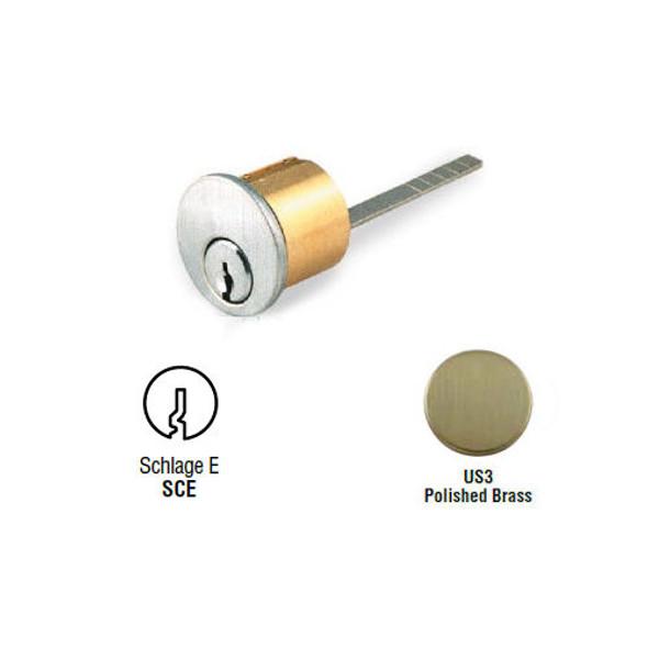 Rim Cylinder, GMS R118-SCE US3, Schlage E, Custom Keyed