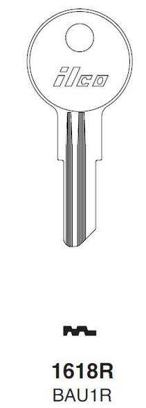 Key blank, Ilco 1618R Bauer T&L Handles