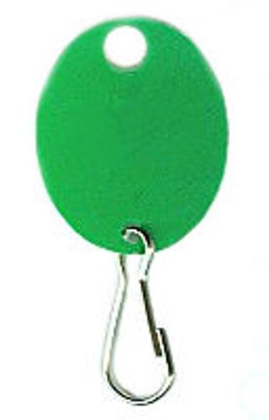 Lund 504-C Key Tag, Oval Green Plain