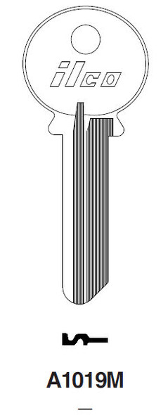 Ilco A1019M Key blank, for Reading