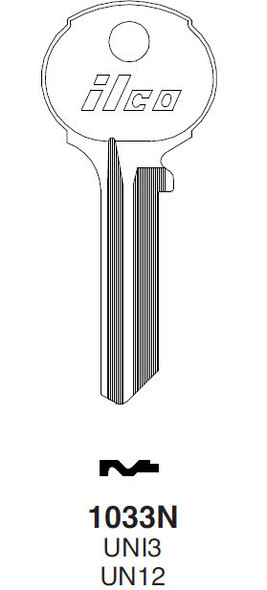 Ilco 1033N Key blank, for Union