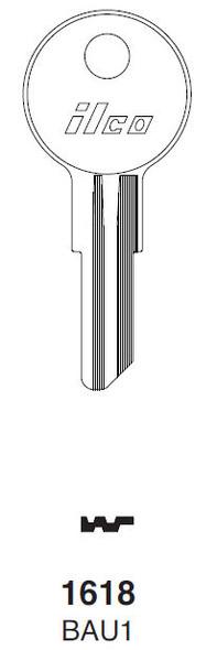Ilco 1618 Key Blank  Bauer T&L Handles