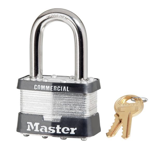 Master Lock 5LF Laminated Steel Padlock, Factory Keyed