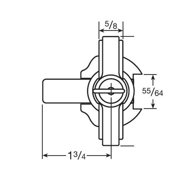 CCL 15766RH KA CAT60 T-Handle, 1-1/4