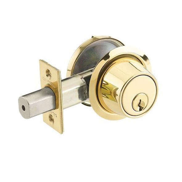 Cal-Royal CB160-US3 Bright Brass Single Cylinder Deadbolt, Custom Keyed
