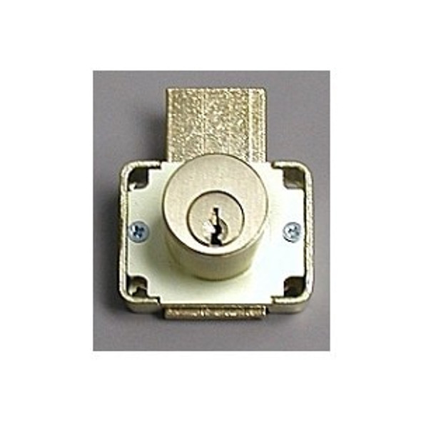 "Olympus 200DW 7/8"" Desk Lock, Brushed Brass/US4, Factory Keyed"