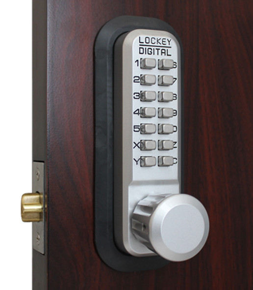 Lockey USA 2830SC Pushbutton Lock, Adjustable Deadlatch