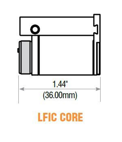GMS LFIC-SC-26D LFIC Core, Schlage C Keyway, Custom Keyed
